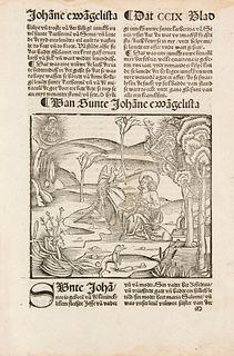 Jacobus de Voragine (Passional efte dat Levent der Hylligen to Dude, uth demm Latino, mit velen nyen Hystorien und Leren). Mit 17 (statt 297) Textholz
