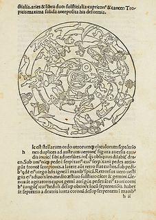 Avienus, Rufus Festus Carmina. Flaviano Myrmeico v. c. suo salutem. Ed. Victor Pisanus. Mit 38 Holzschnitten. Venedig, Antonio de Strata, 25. X. 1488.