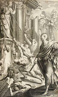 Hazart, Cornelius Kerckelycke Historie van de Gheheele Wereldt, namelyck vande voorgaende ende teghenwoordighe eevwe. 4 Tle. in 2 Bde. Mit 4 gestoch.