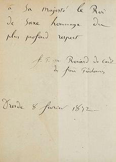 Rouard de Card, Pie Marie Le miracle de Saint Dominique à Soriano. Mit 1 gestoch. Frontispiz-Porträt. Louvain & Paris, Fontain u. Poussielgue, 1871. 5