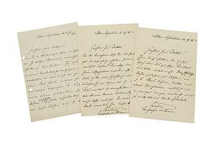 Caroline von Hessen-Philippsthal-Barchfeld Sammlung von 3 eigenhändigen Briefen mit Unterschrift der Landgräfin an einen geehrten Herrn Doktor. Schlos