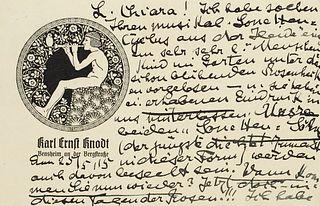 Faisst, Clara Sammlung von ca. 43 eigenhändigen Briefen und 2 Postkarten von und an Clara Faisst (1872-1948, Komponistin, Pianistin und Dichterin) von
