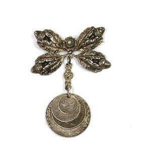 A Continental silver brooch,