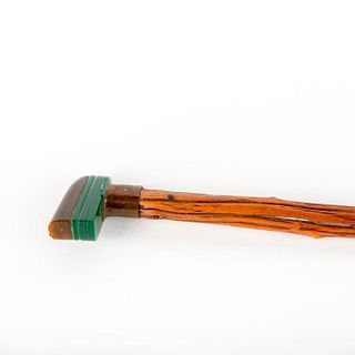 Art Deco Cane With Horn And Bakelite Handle