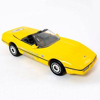 Yellow 1986 Corvette Pace Car Beam Decanter