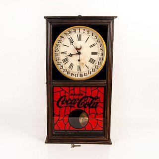 COCA-COLA CLASSIC VINTAGE WALL CLOCK