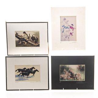 4 Limited Edition Asian Art Prints
