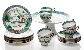 Crown Staffordshire Chinoiserie Porcelain, 19
