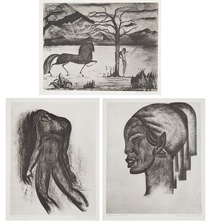 A GROUP OF TEN LITHOGRAPHS BY BORIS LOVET-LORSKI (AMERICAN 1894-1973), VOL. 1