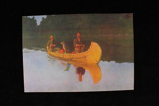 Frederic Remington Evening on a Canadian Lake 1908