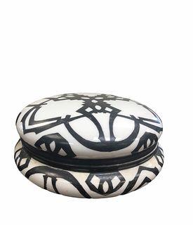 T&V Limoges France Hand Painted Porcelain Vanity Box