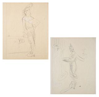 A PAIR OF DRAWINGS BY KARL SPRINGCHORN (AMERICAN 1887-1971)