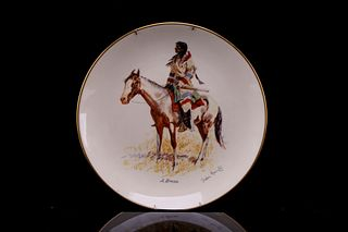 """Frederic Remington """"A Breed"""" Gorham China Plate"""