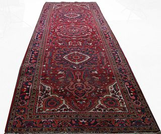 ANTIQUE HAND KNOTTED CAUCASIAN PERSIAN RUNNER