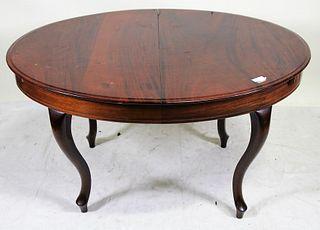 19th CENTURY MAHOGANY OVAL TABLE