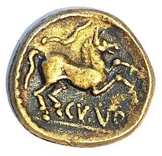 Celtic Iron Age Coin, 8-41 AD.