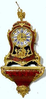 Louis XV Style Bouille & Ormolu Mounted Shelf Clock