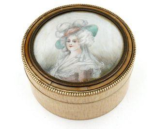 Box with Portrait Miniature, 19thc.