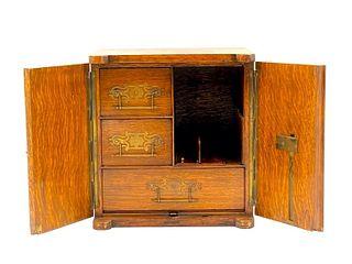 Edwardian Oak Letter Box