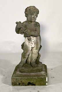 Cast Stone Garden Figure of a Putto