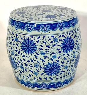 Large Size Blue and White Porcelain Garden Seat