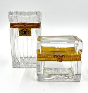 Two Crystal and Ormolu Boxes