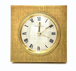 Tiffany Bronze Desk or Travel Clock