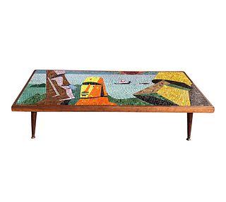 MCM Mosiac Easter Island Head Kit Coffee Table