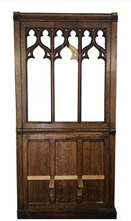 Antique French Church Confessional Panel