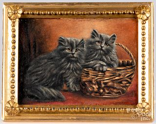 Two oil on canvas of cats, early/mid 20th c.