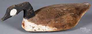 Carved Canada Goose decoy, early 20th c.