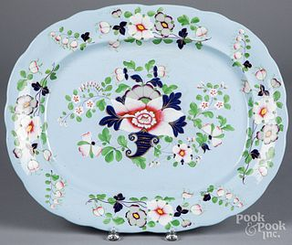 Large Staffordshire platter, 19th c.