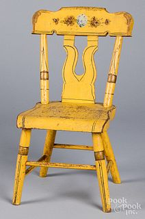 Pennsylvania painted child's chair, 19th c.