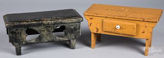 Two painted stools, late 19th c.
