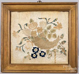 Silk embroidery, 19th c.