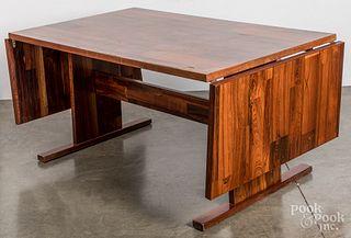 Rosewood veneer drop-leaf table