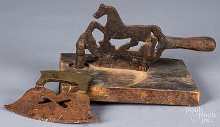 Two iron choppers, 20th c.