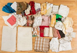 Large group of miscellaneous fabrics