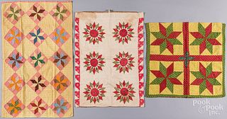 Three Pennsylvania patchwork pillow covers