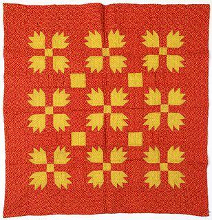 Pennsylvania patchwork bear paw cradle quilt