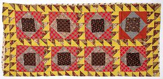 Pennsylvania patchwork bolster pillow cover