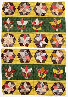 Pair of Pennsylvania patchwork pillow shams