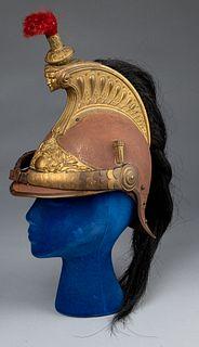 French Cuirassier steel helmet, 19th c.