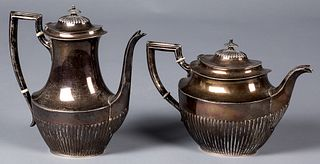 Fisher sterling silver teapot and coffee pot