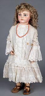 French Bru Jne bisque swivel head & shoulder doll