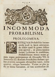 Mas de Casavalls, Luis Vicente Incommoda probabilismi, deducta ex propositionibus quinquaginta quinque damnatis ab Alexandro VII, & sexaginta quinque