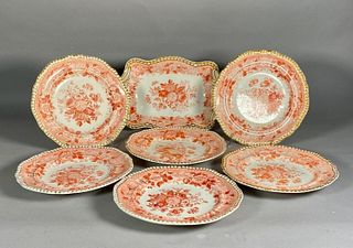 Group of Spode's Imperial Pattern Transfer Decorated