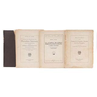 Libros de la Editorial Pedro Robredo. Postrera Voluntad y Testamento de Hernando Cortés Márques del Valle. Piezas: 4.