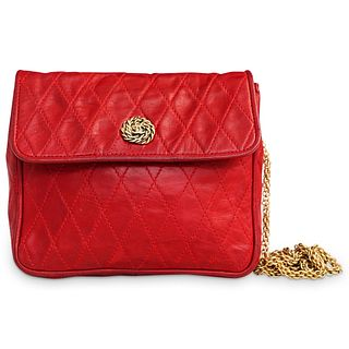 Chanel Red Quilted Leather Purse