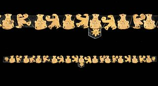 Egyptian Gold Decorative Appliques of Bes & Horus